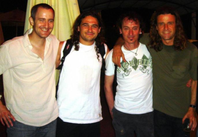 Avec Kevin Reverand, Fred Gaillardet, J-Marie Ecay